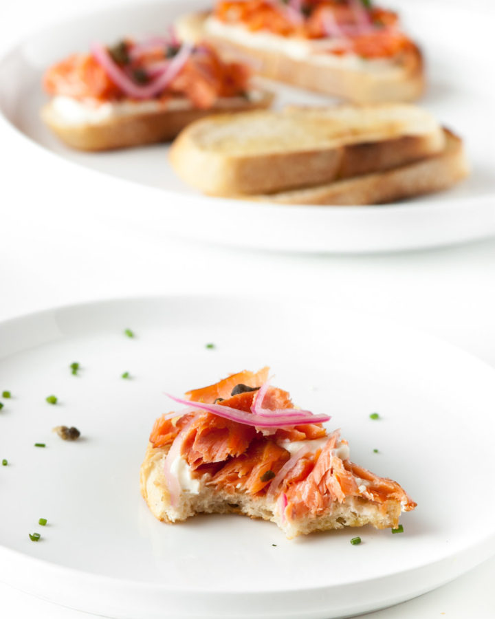 smoked trout tartine