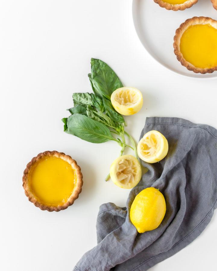 lemon basil tart