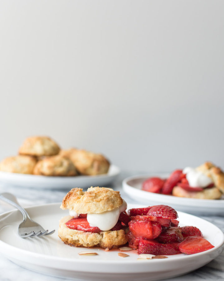 strawberry almond scone cakes-- with spice seasonal food blog