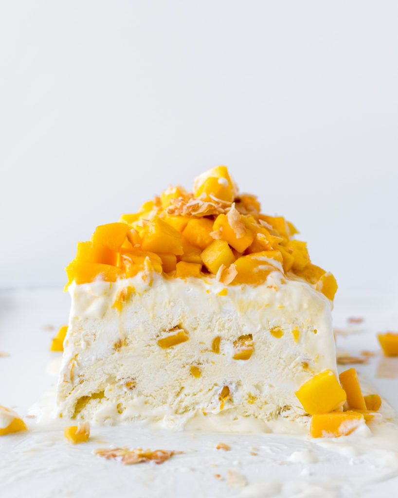 coconut mango semifreddo recipe-- with spice seasonal food blog