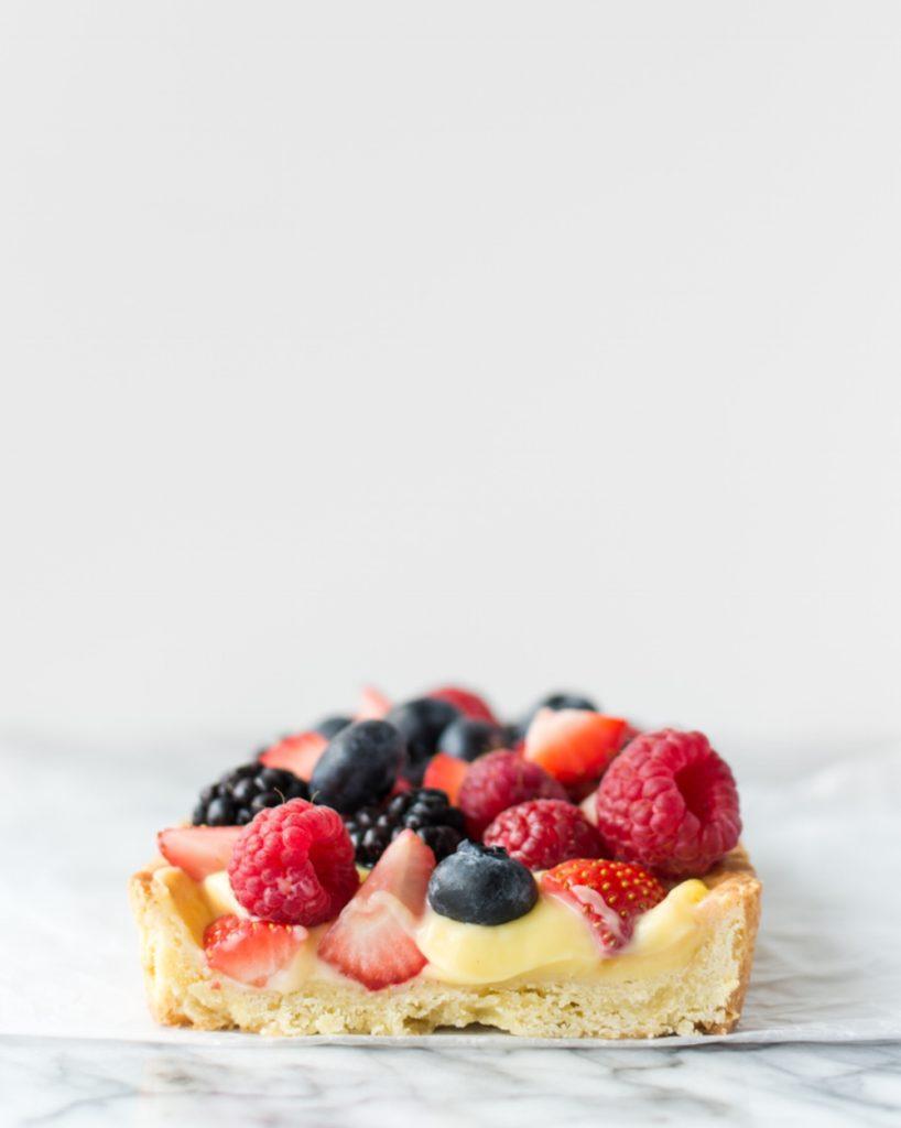 white balsamic berry tart