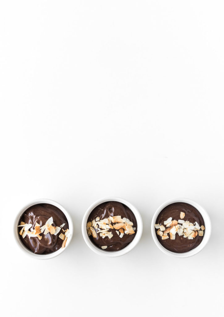 dark chocolate coconut pudding recipe