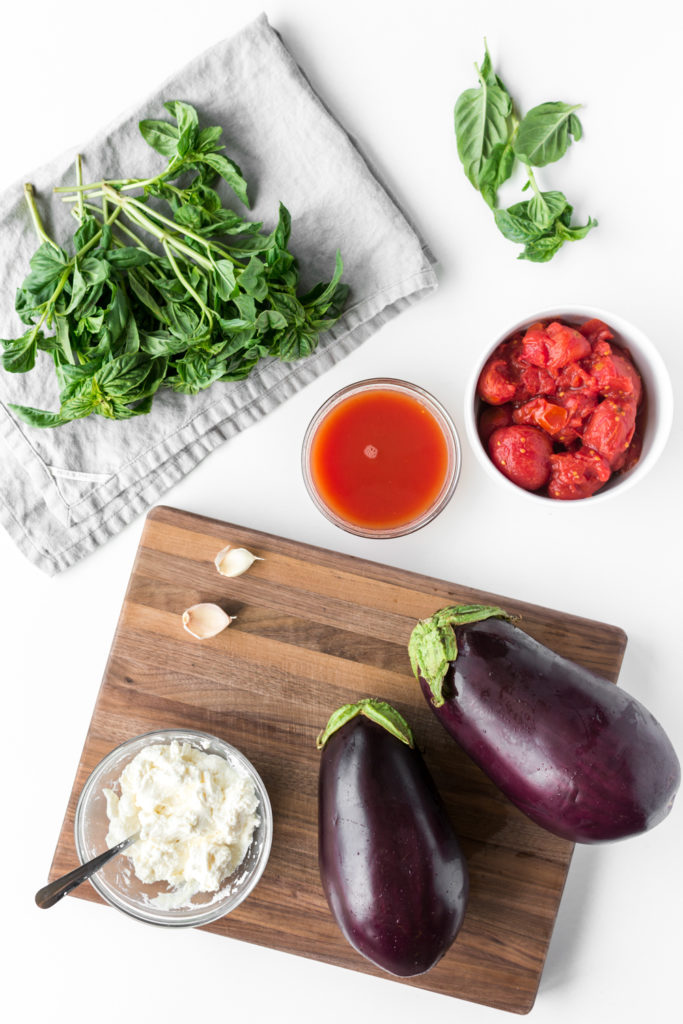 ingredients for simple italian summer dinner