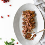 sweet italian sausage with grapes and balsamic vinegar