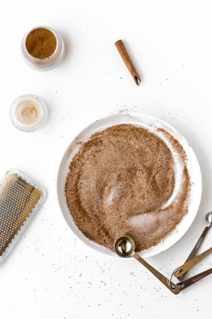 cinnamon sugar doughnut topping