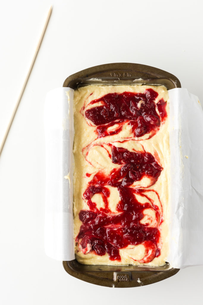 marbled cranberry pound cake