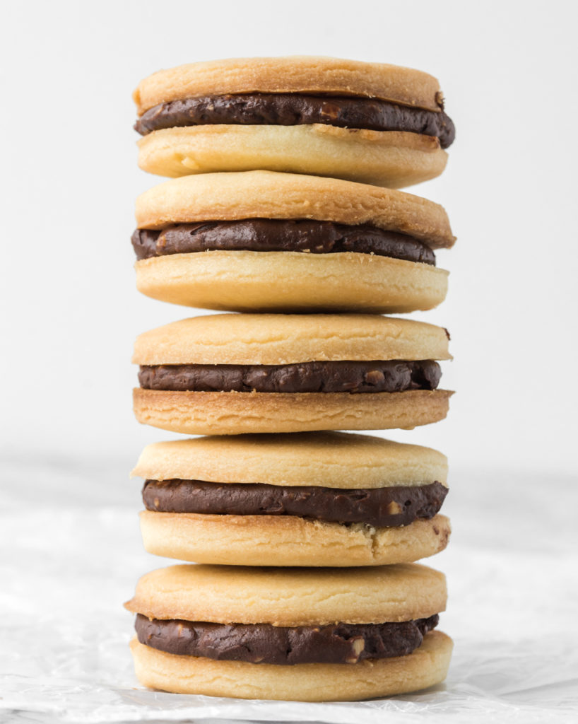 butter cookie sandwiches with chocolate hazelnut ganache-- withspice seasonal food blog