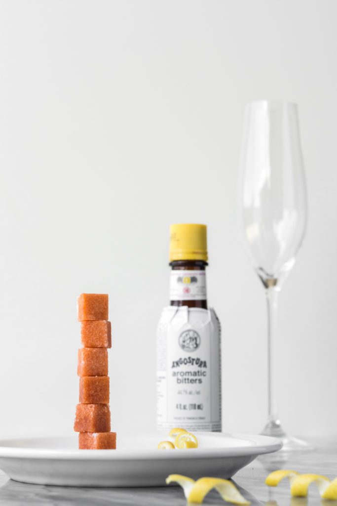 champagne cocktail with angostura bitters