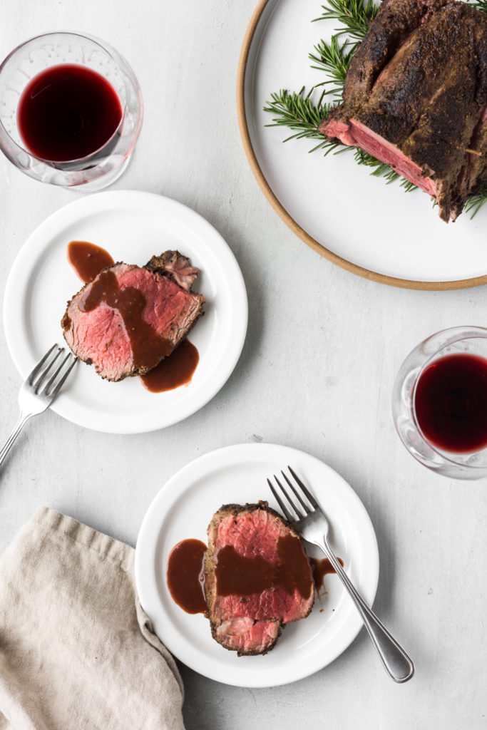 whole roasted beef tenderloin with red wine sauce-- withspice seasonal food blog