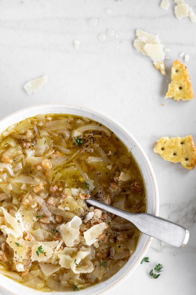 cabbage farro soup recipe