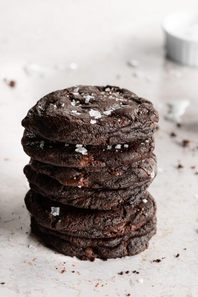 dark chocolate sea salt cookie recipe
