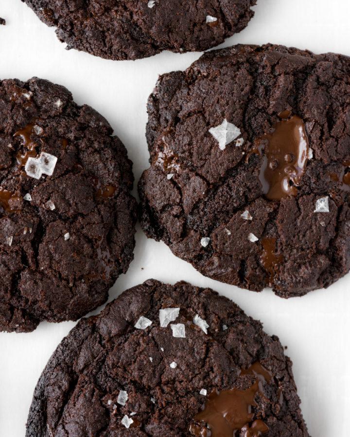salted double dark chocolate cookies-- withspice seasonal food blog