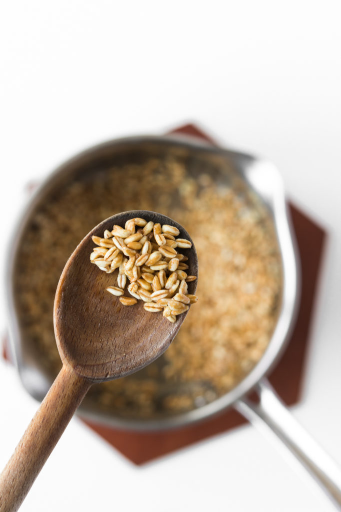 toasted farro for soup