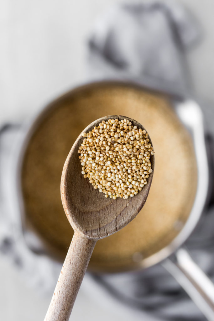 how to cook quinoa-- deeply toasted