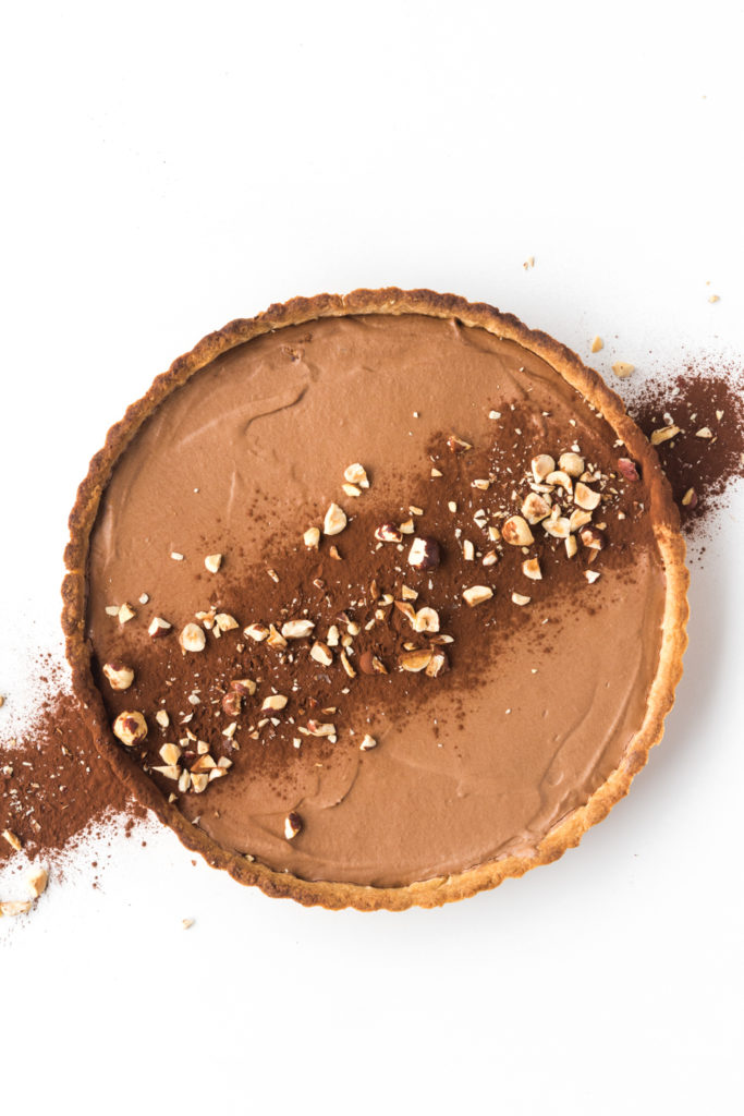 chocolate mousse tart with hazelnut crust--withspice food blog