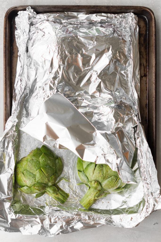 how to steam roast fresh artichokes