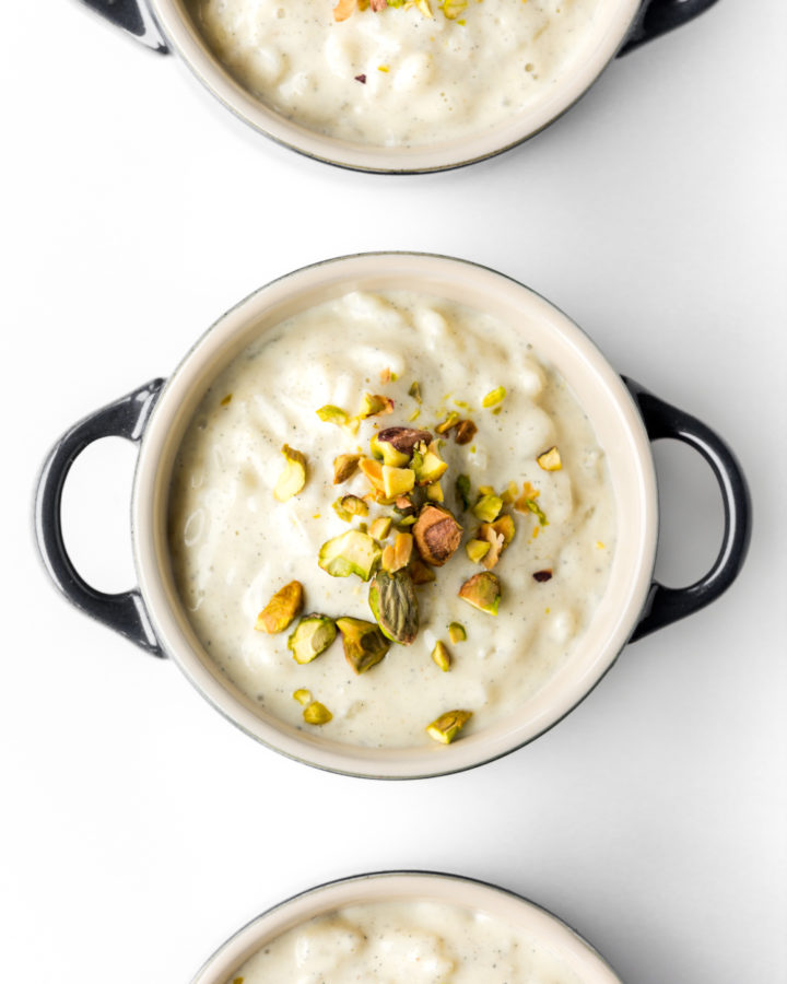 how to make vanilla cardamom stove top rice pudding
