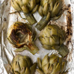 easy roasted artichokes with creamy dipping sauce