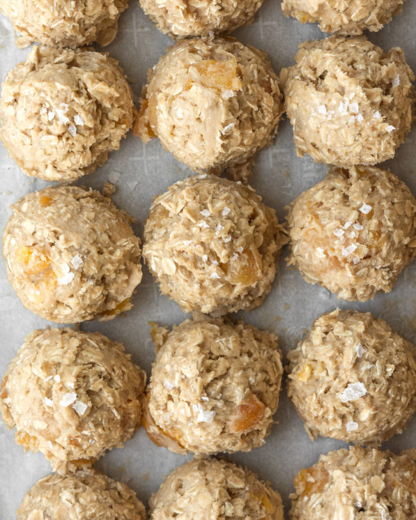 oatmeal apricot cookie dough