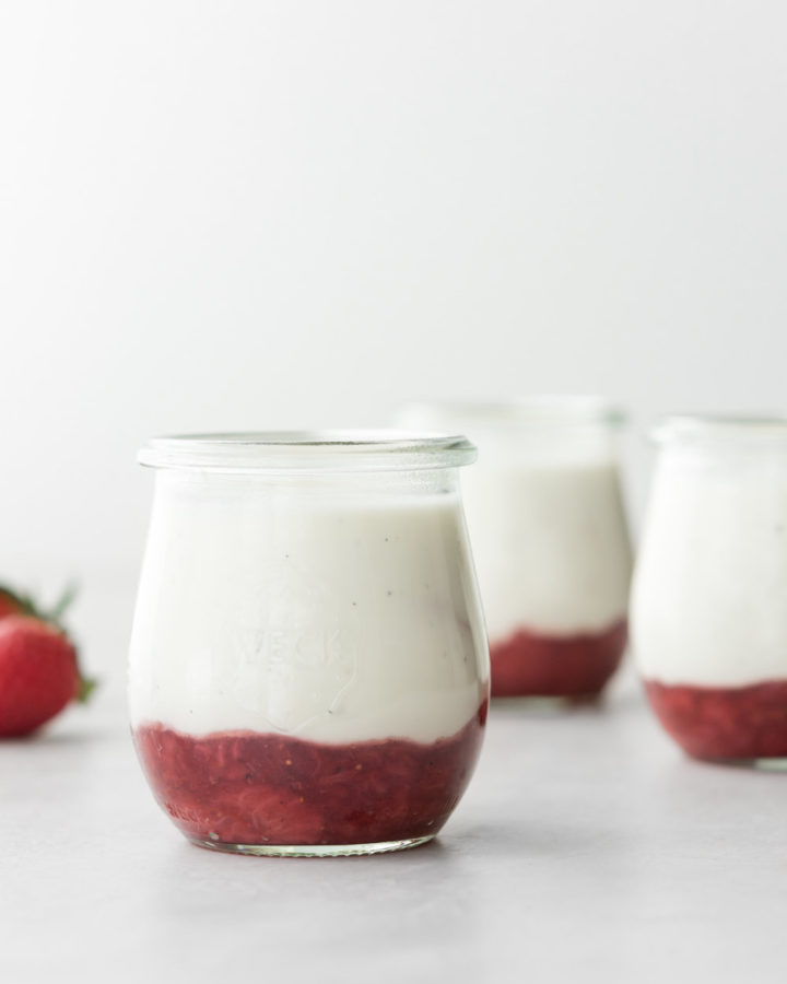 sour cream panna cotta with black pepper strawberry jam-- withspice seasonal food blog