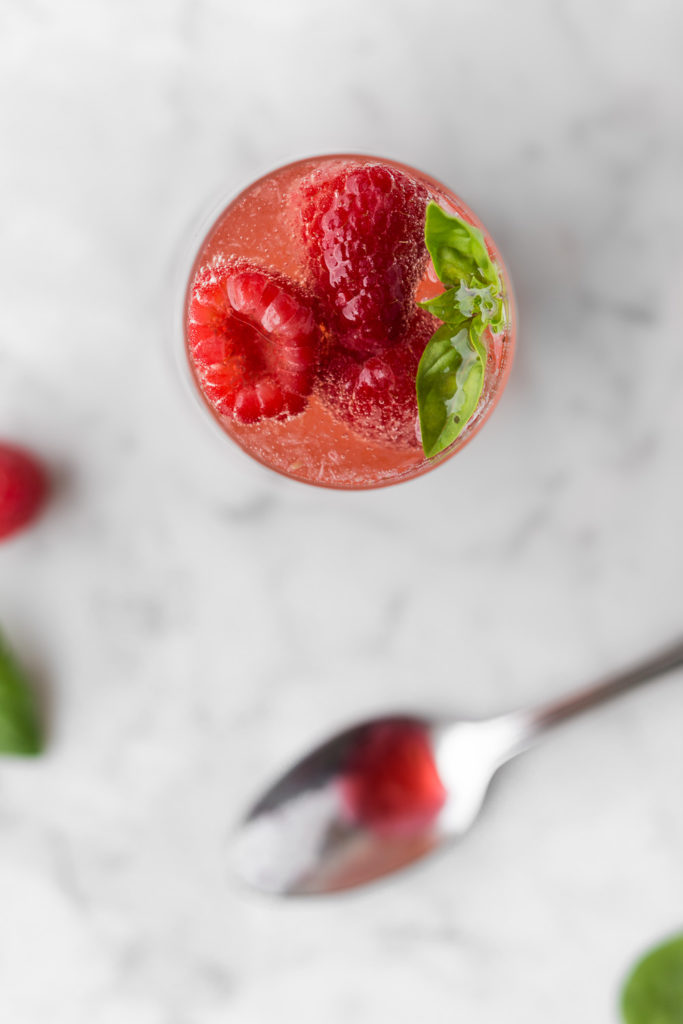 sparkling raspberry basil shrub drink-- withspice seasonal food blog
