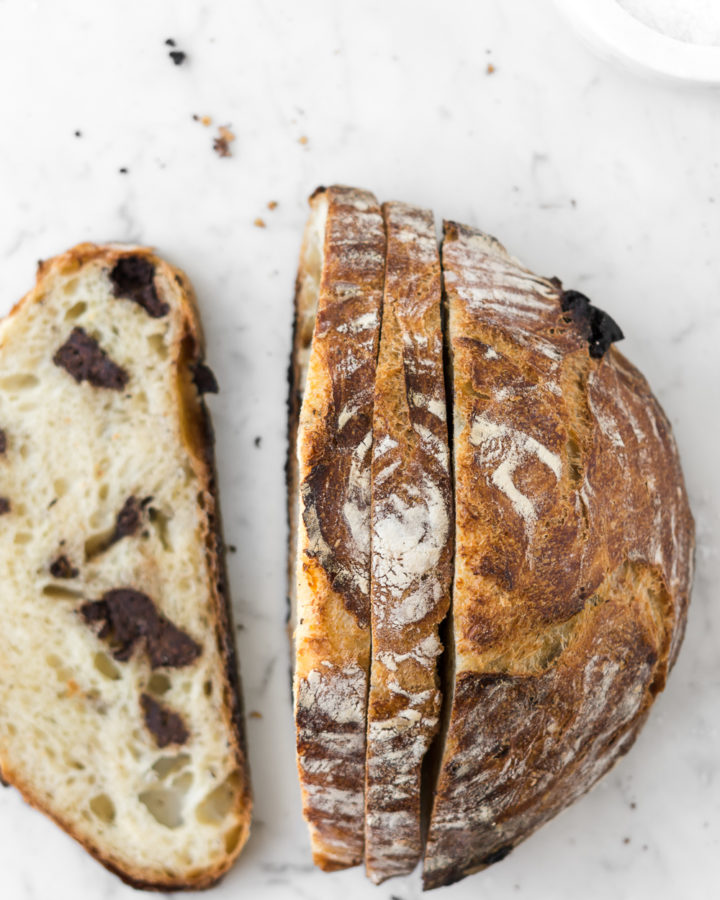 chocolate chunk artisan bread-- withspice seasonal food blog
