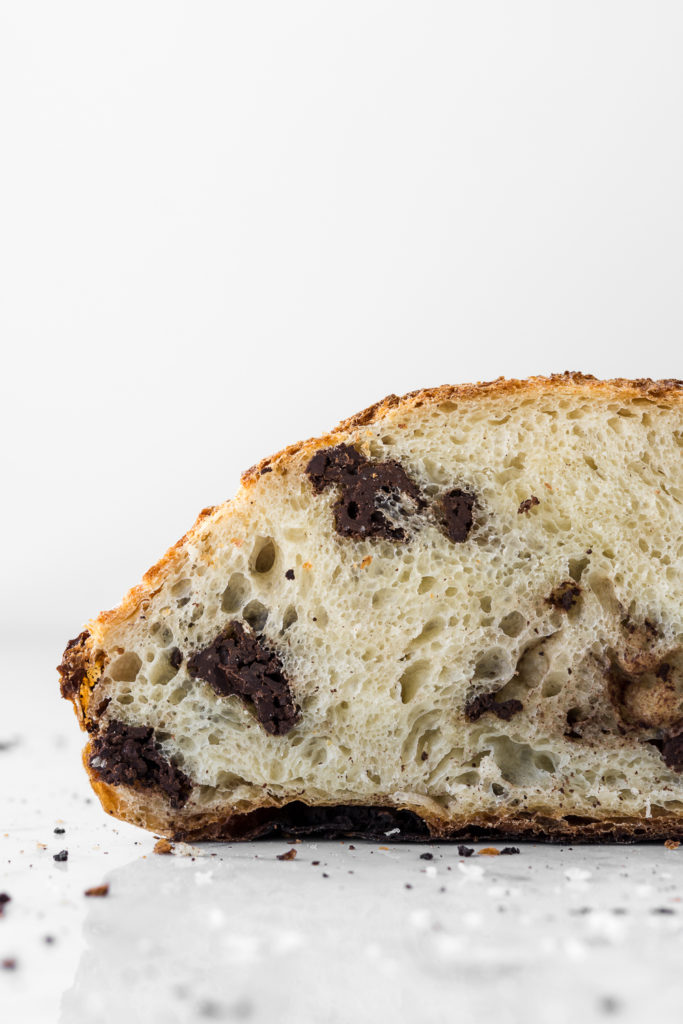 chocolate chunk artisan bread