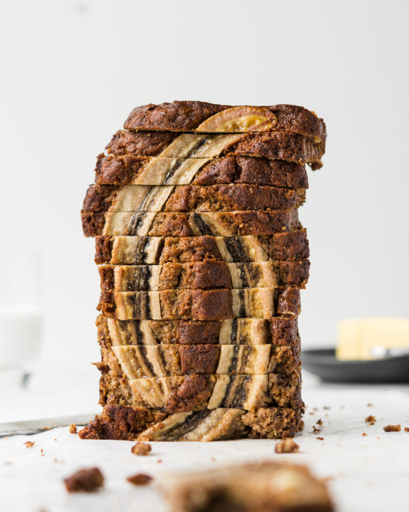 brown butter banana bread with spelt flour-- withspice seasonal food blog