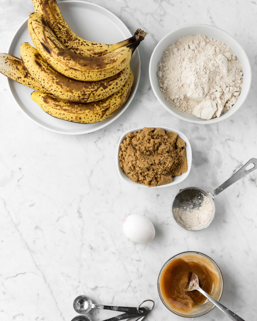 brown butter banana bread ingredients
