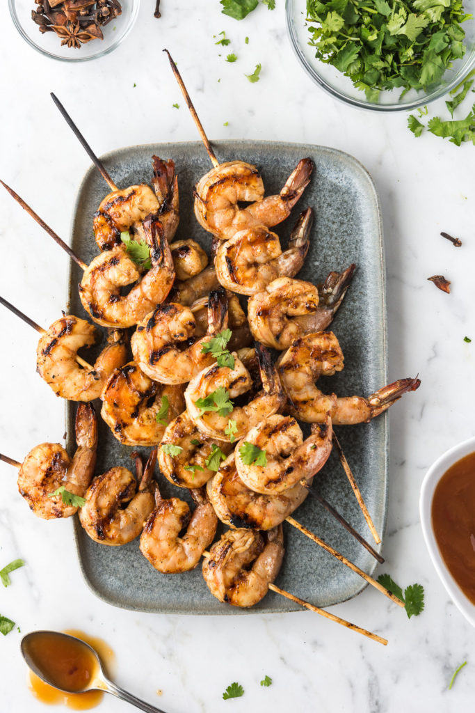 five spiced grilled shrimp-- withspice seasonal food blog