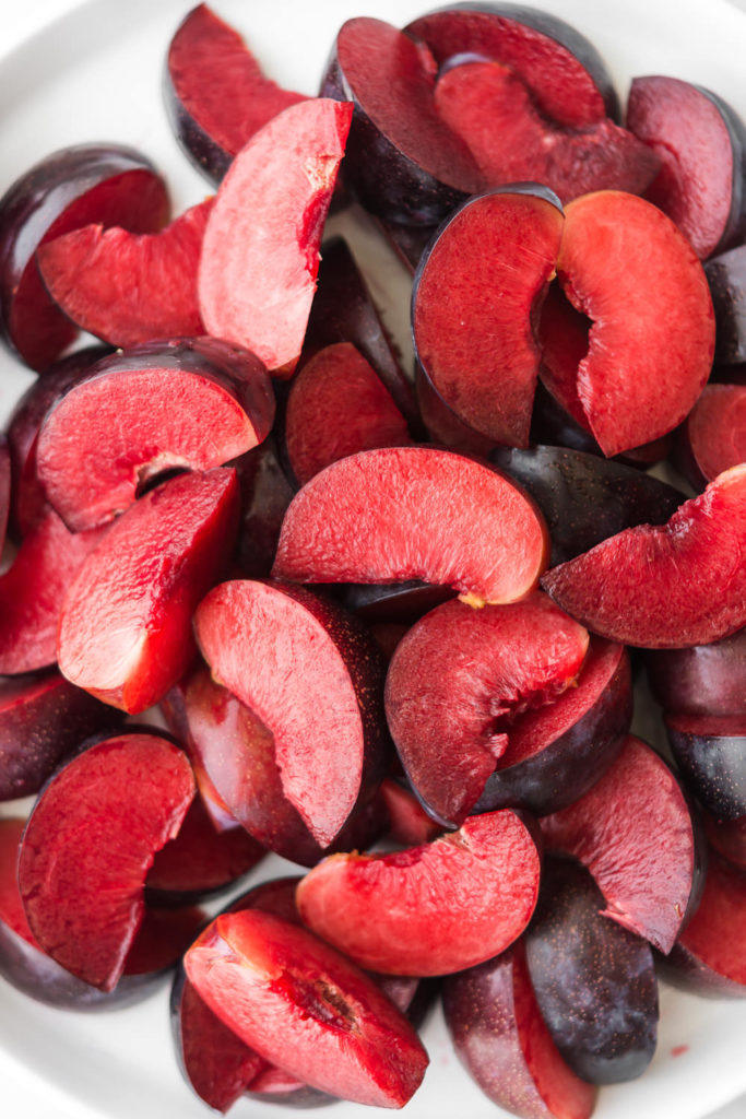 how to poach plums in honey syrup-- withspice seasonal food blog
