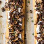 roasted mushroom tart with goat cheese-- with spice seasonal food blog