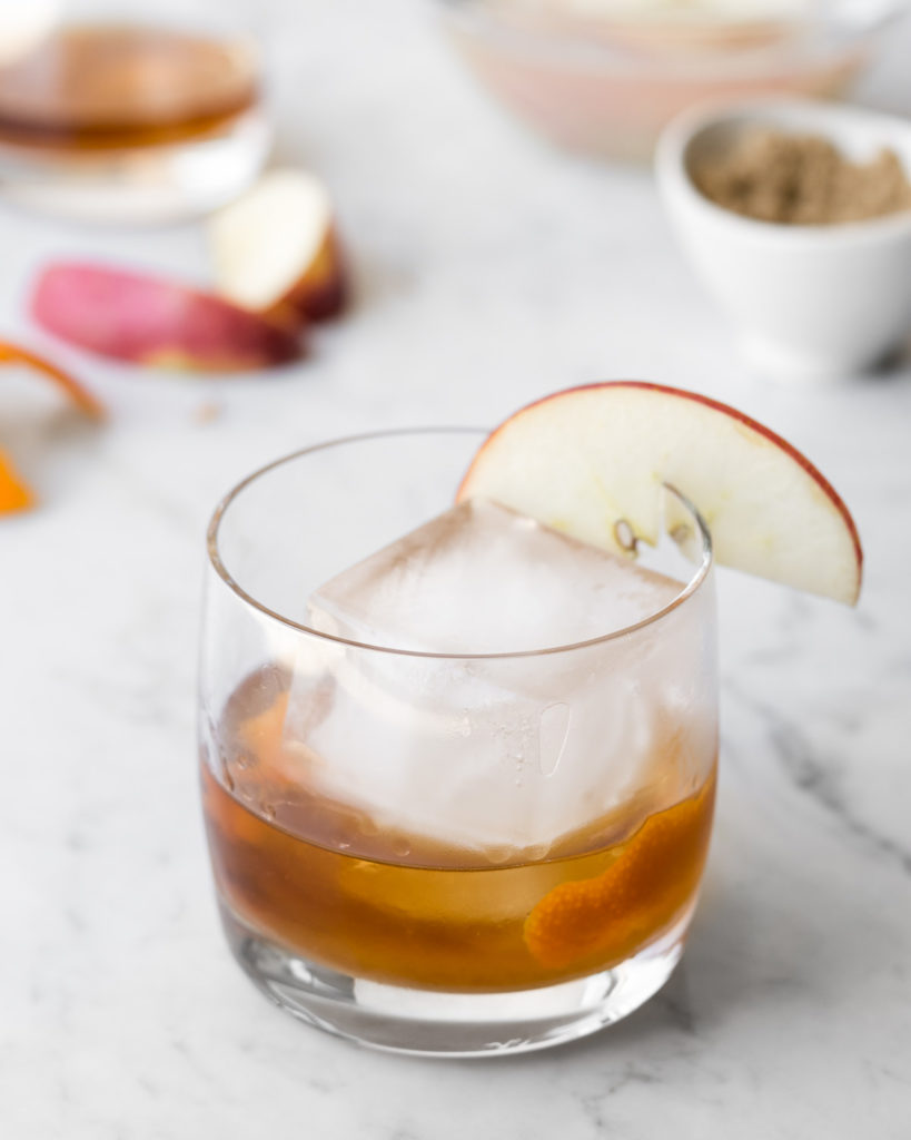 brown sugar applejack old fashioned-- withspice seasonal food blog