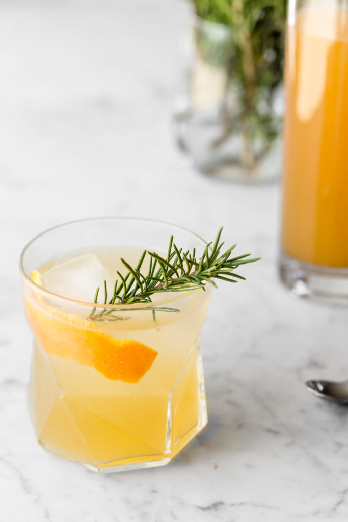 citrus rosemary shrub gin cocktail-- withspice seasonal recipes