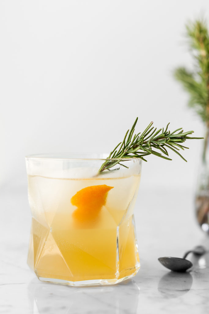 triple citrus rosemary shrub gin cocktail-- withspice seasonal recipes
