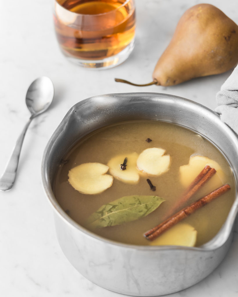 how to make mulled pear cider-- withspice food blog