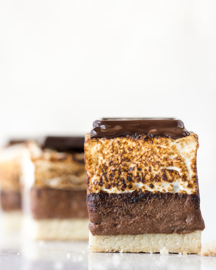 how to make mocha almond shortbread s'mores-- withspice food blog
