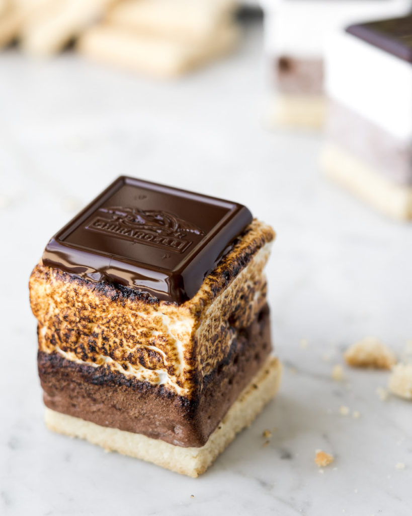 homemade mocha almond shortbread s'mores-- withspice food blog