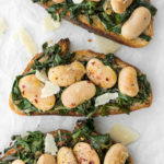 swiss chard and big bean toast recipe