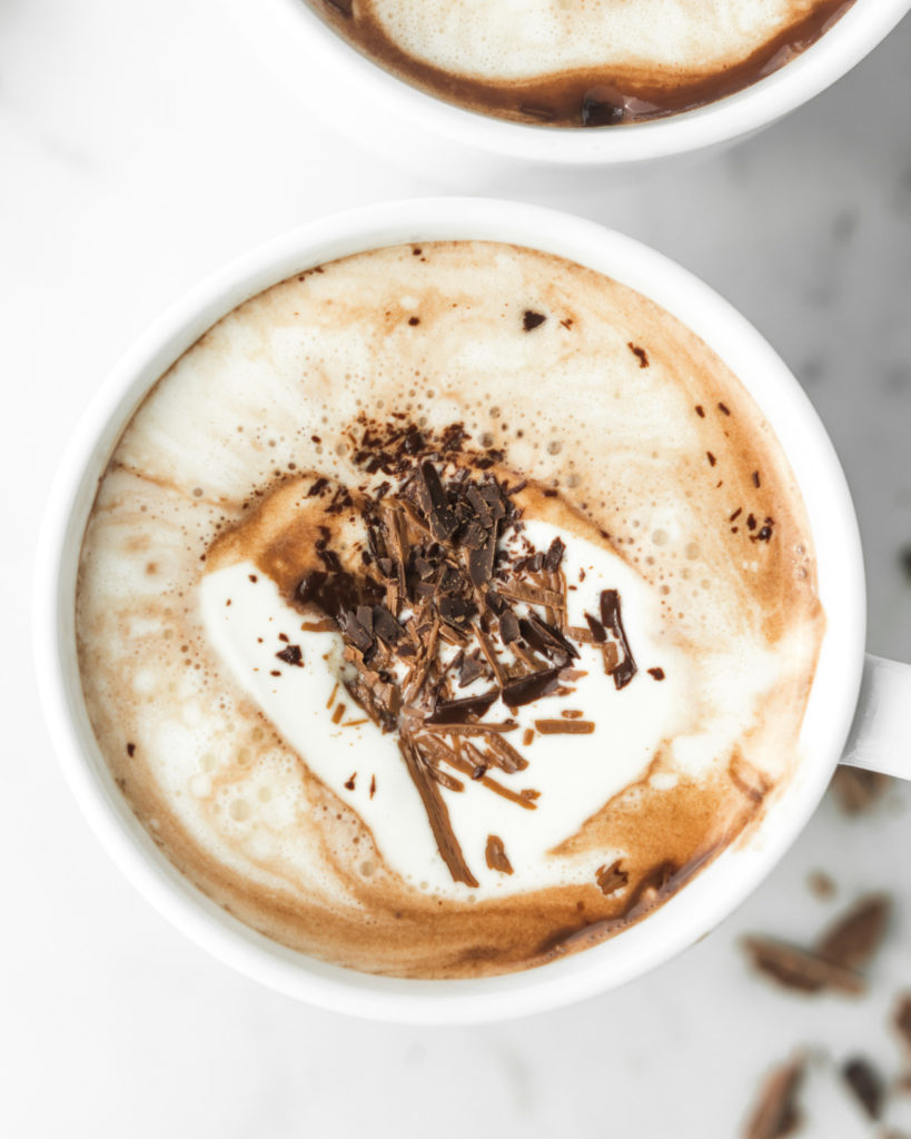 rich, spiked coconut milk hot cocoa recipe