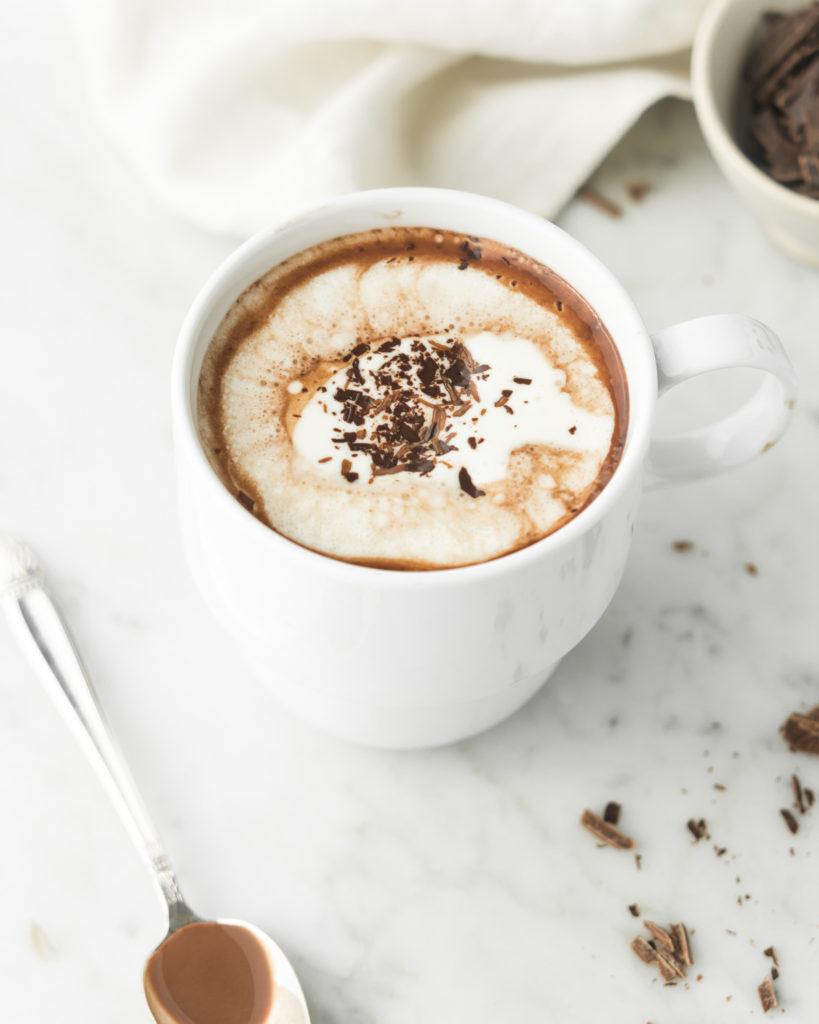 coconut milk hot cocoa with cognac