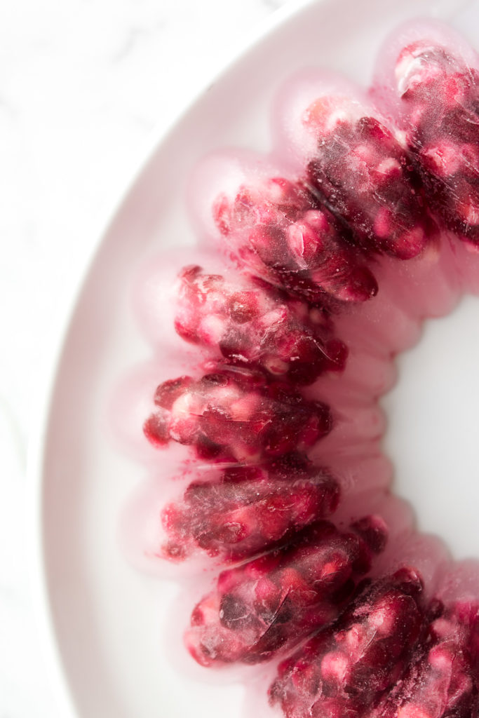 pomegranate seed ice ring