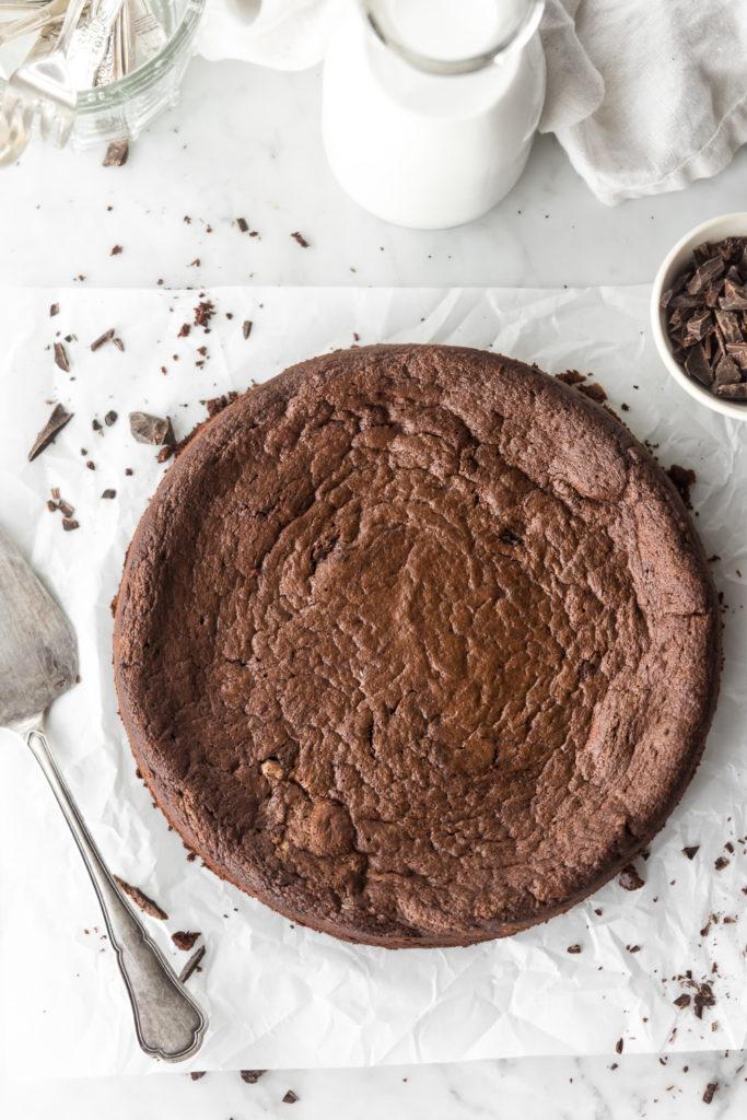 fallen chocolate espresso souffle cake