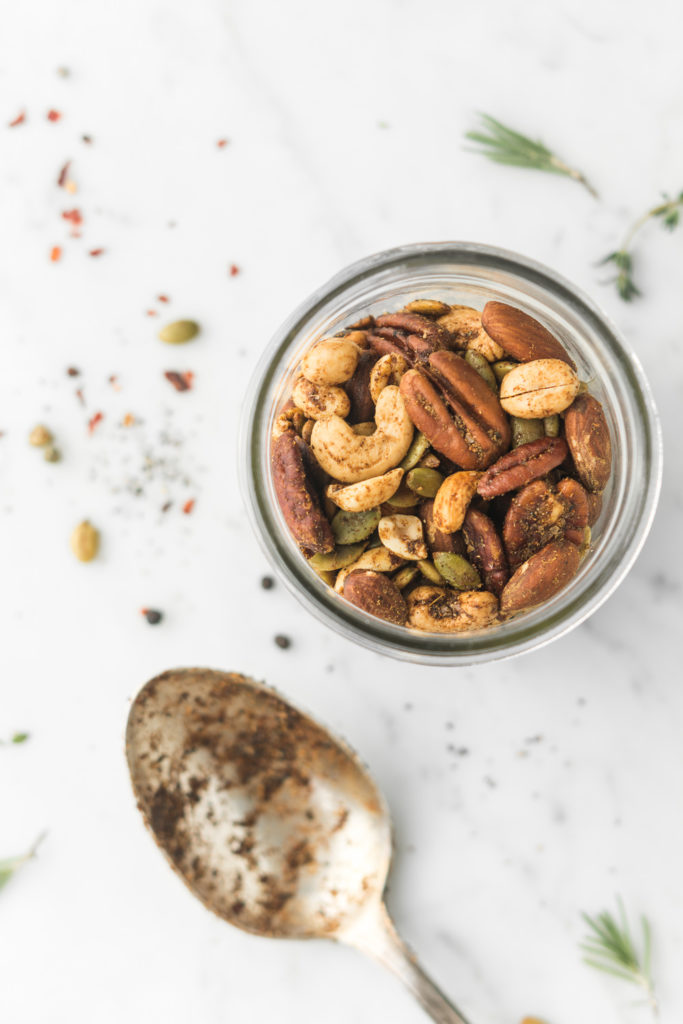 how to make spicy garam masala roasted nuts