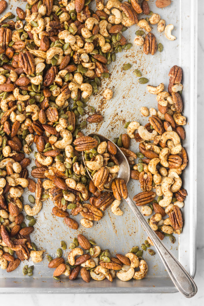 how to make spicy roasted nuts-- withspice food blog