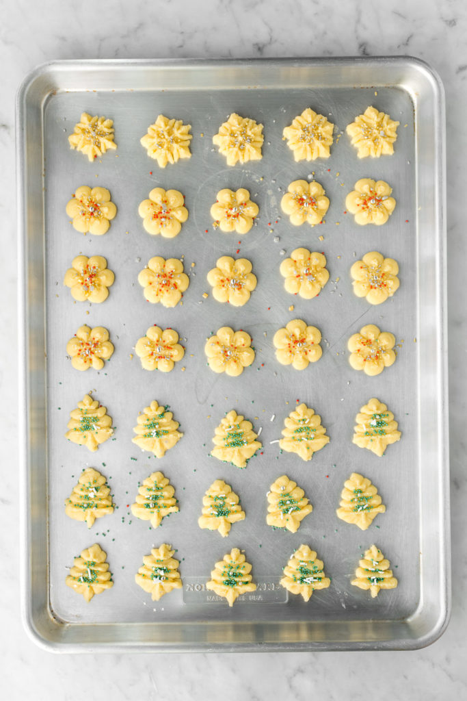 salted butter pressed christmas cookies