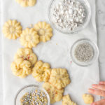 salted butter spritz christmas cookies