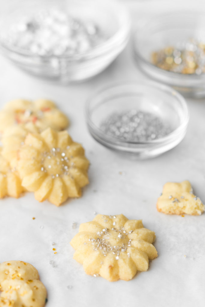 salted butter spritz holiday cookies