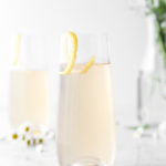 sparkling elderflower gin cocktail