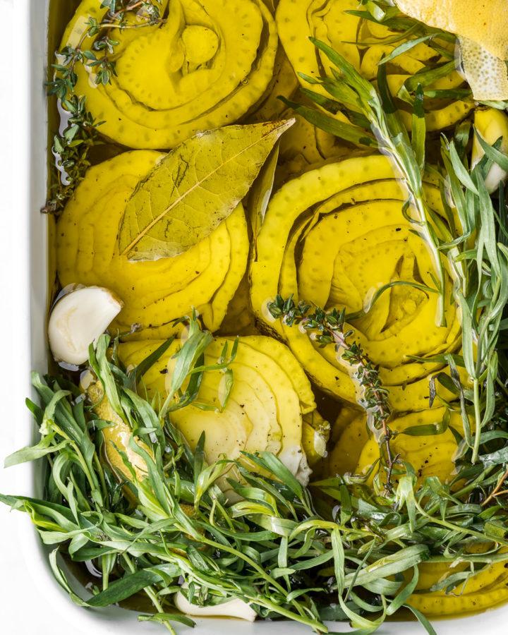 fennel confit recipe with tarragon and lemon